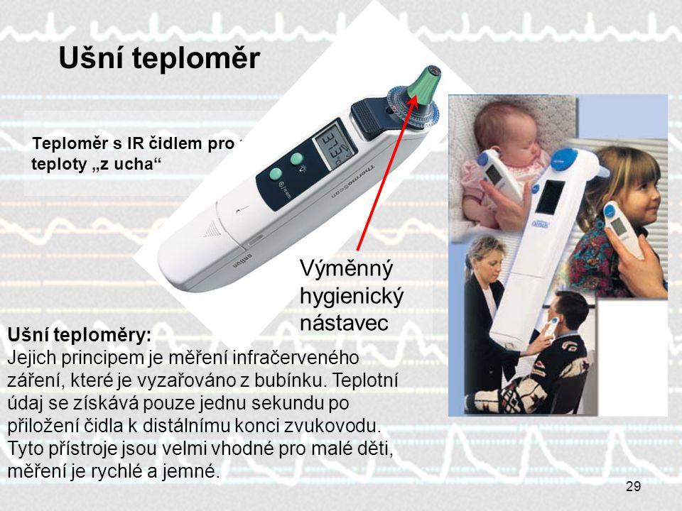 """Teploměr s IR čidlem pro měření teploty """"z ucha"""