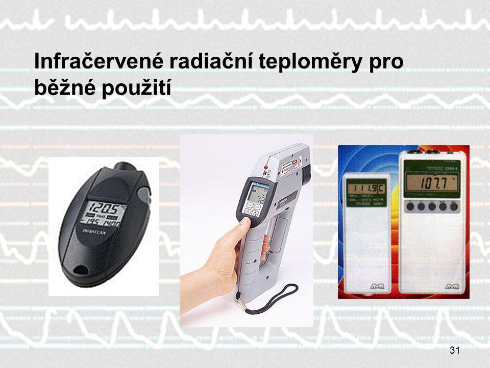 Infračervené radiační teploměry pro běžné použití