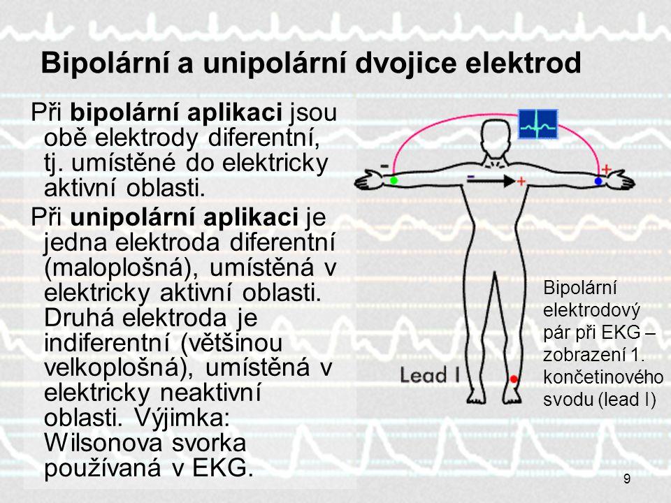 Bipolární a unipolární dvojice elektrod