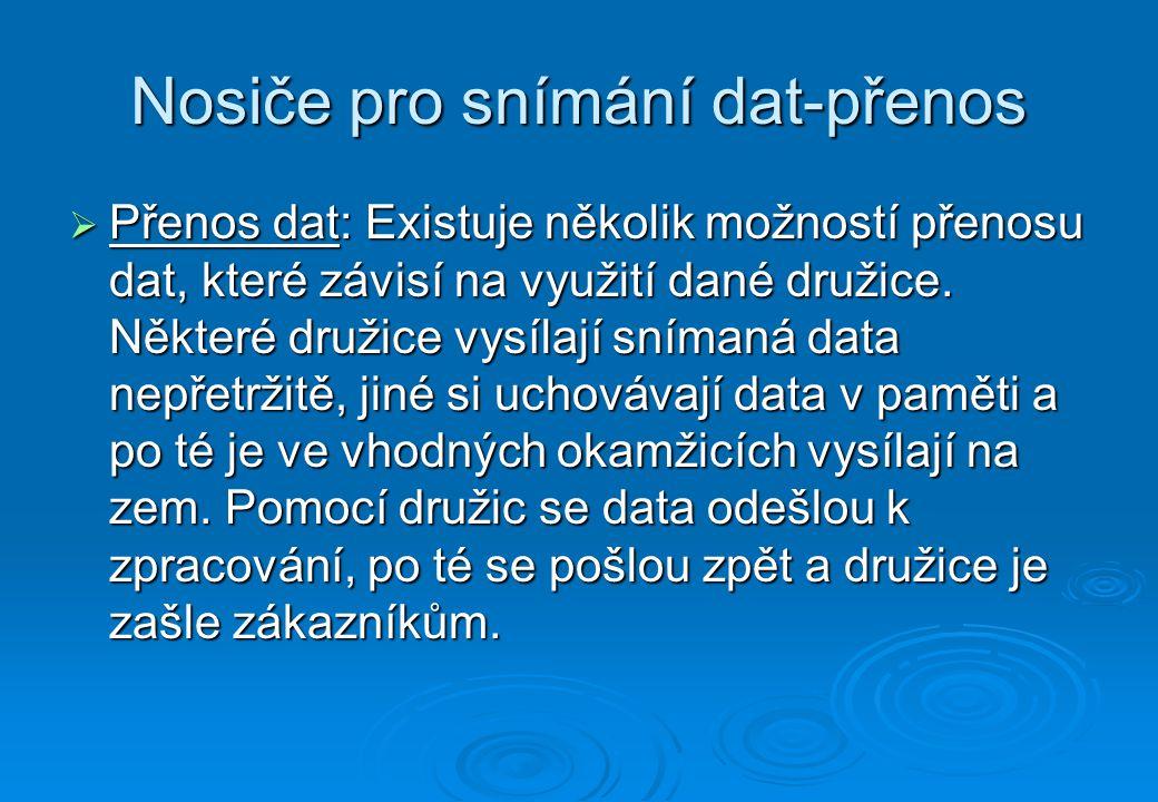 Nosiče pro snímání dat-přenos