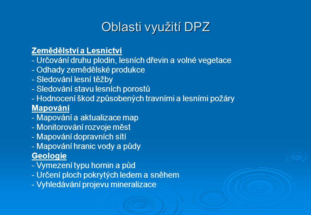 Oblasti využití DPZ