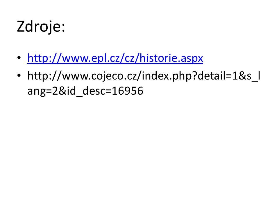 Zdroje: http://www.epl.cz/cz/historie.aspx