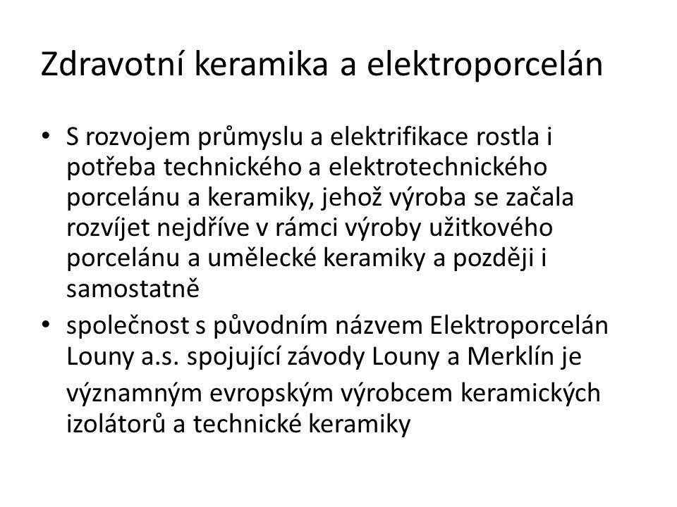 Zdravotní keramika a elektroporcelán