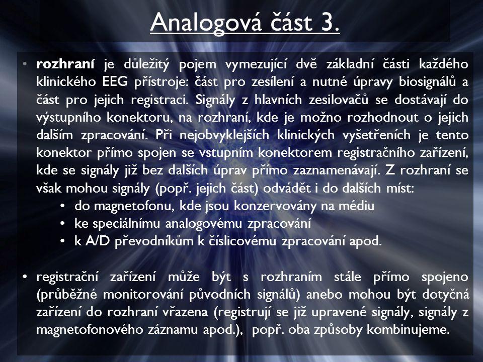 Analogová část 3.