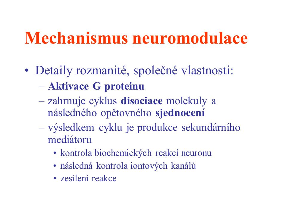 Mechanismus neuromodulace