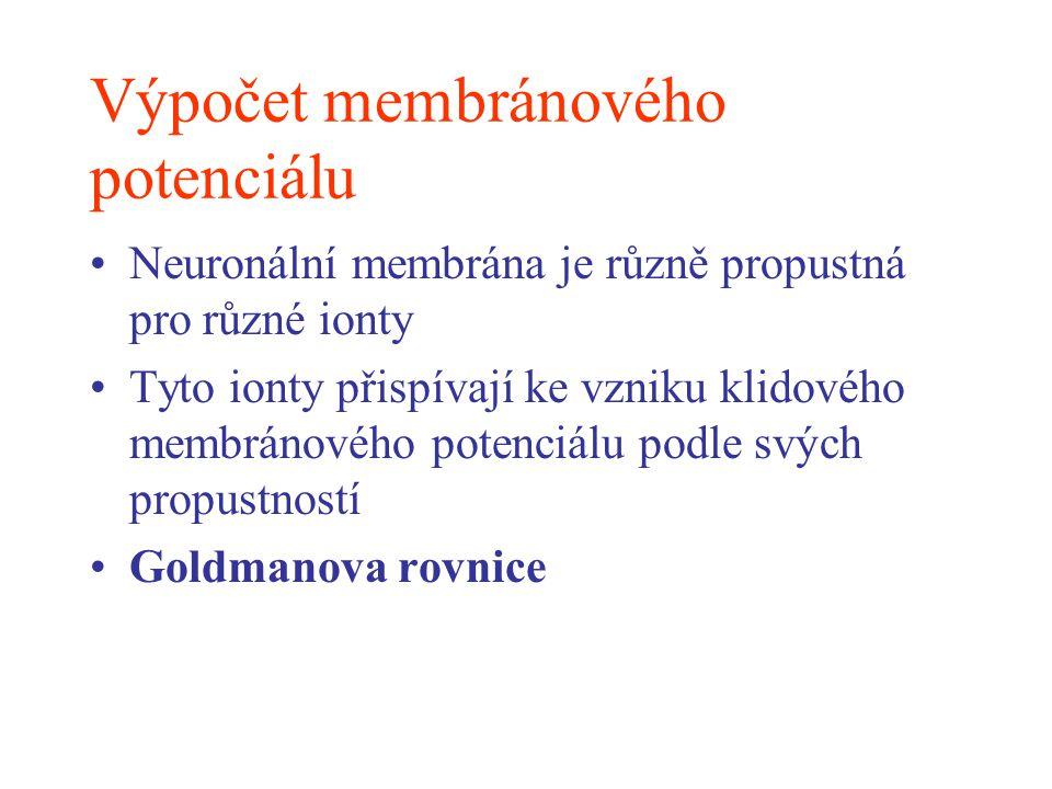Výpočet membránového potenciálu