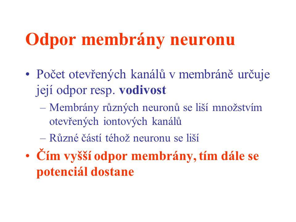 Odpor membrány neuronu