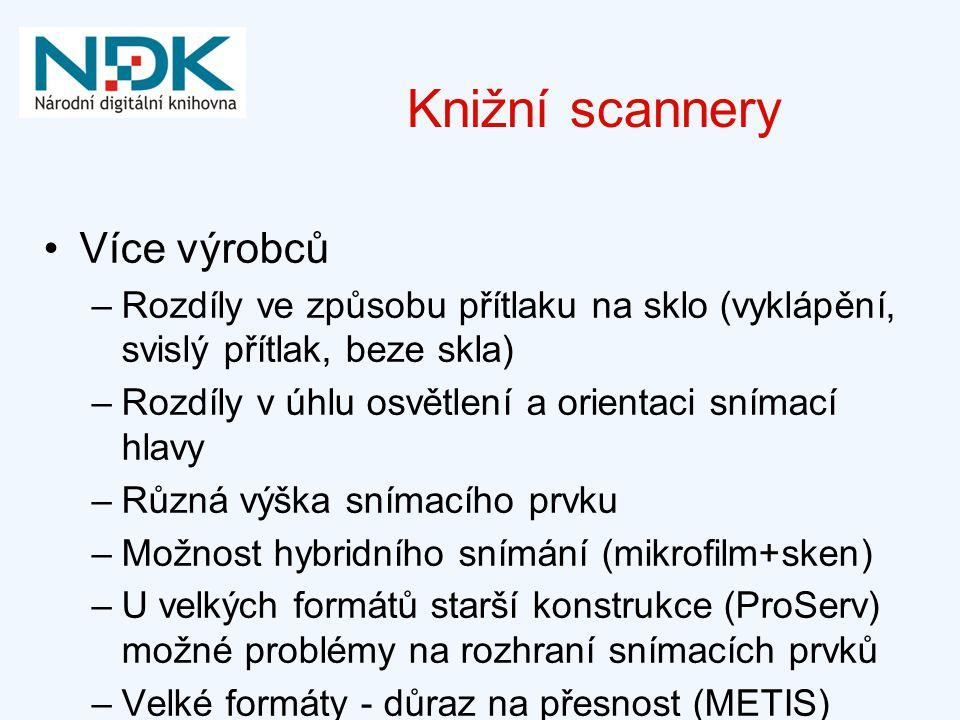 Knižní scannery Více výrobců