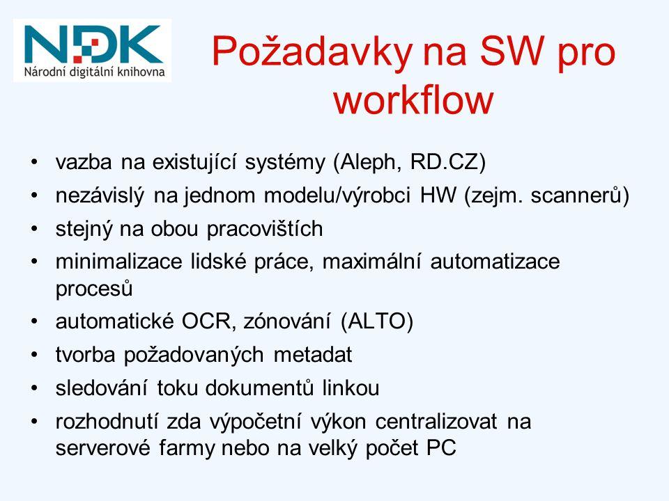 Požadavky na SW pro workflow