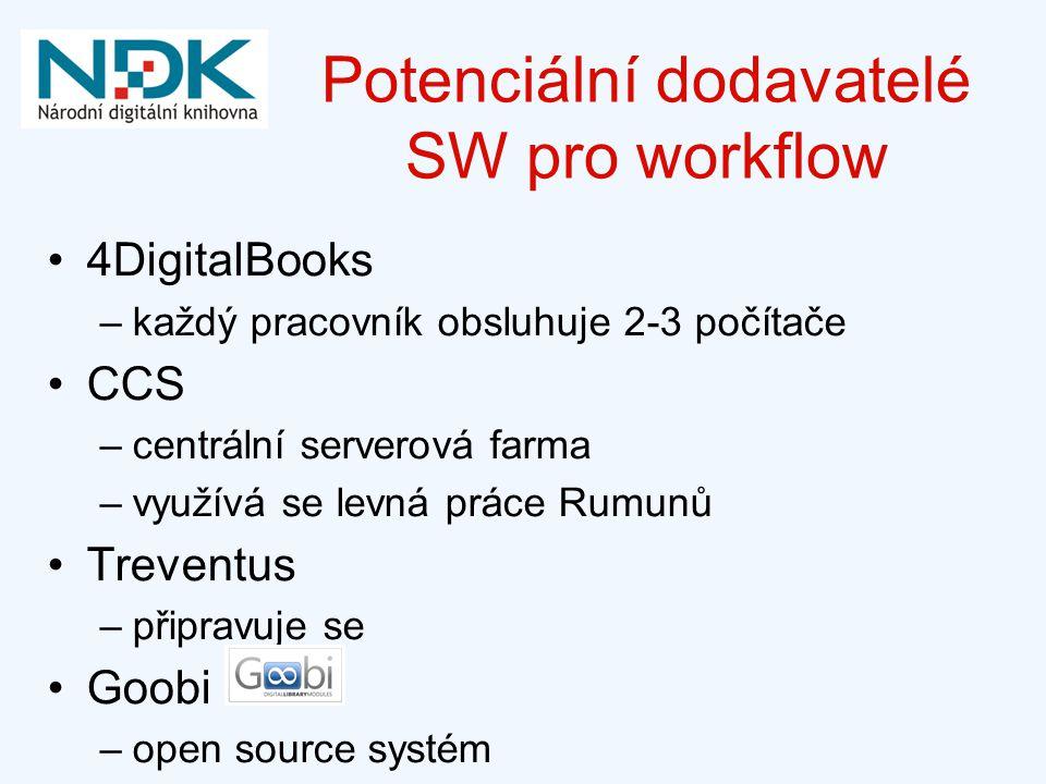 Potenciální dodavatelé SW pro workflow
