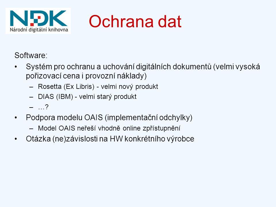 Ochrana dat Software: Systém pro ochranu a uchování digitálních dokumentů (velmi vysoká pořizovací cena i provozní náklady)