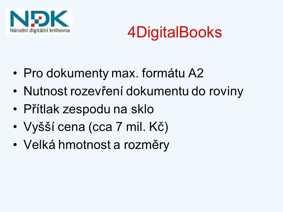 4DigitalBooks Pro dokumenty max. formátu A2