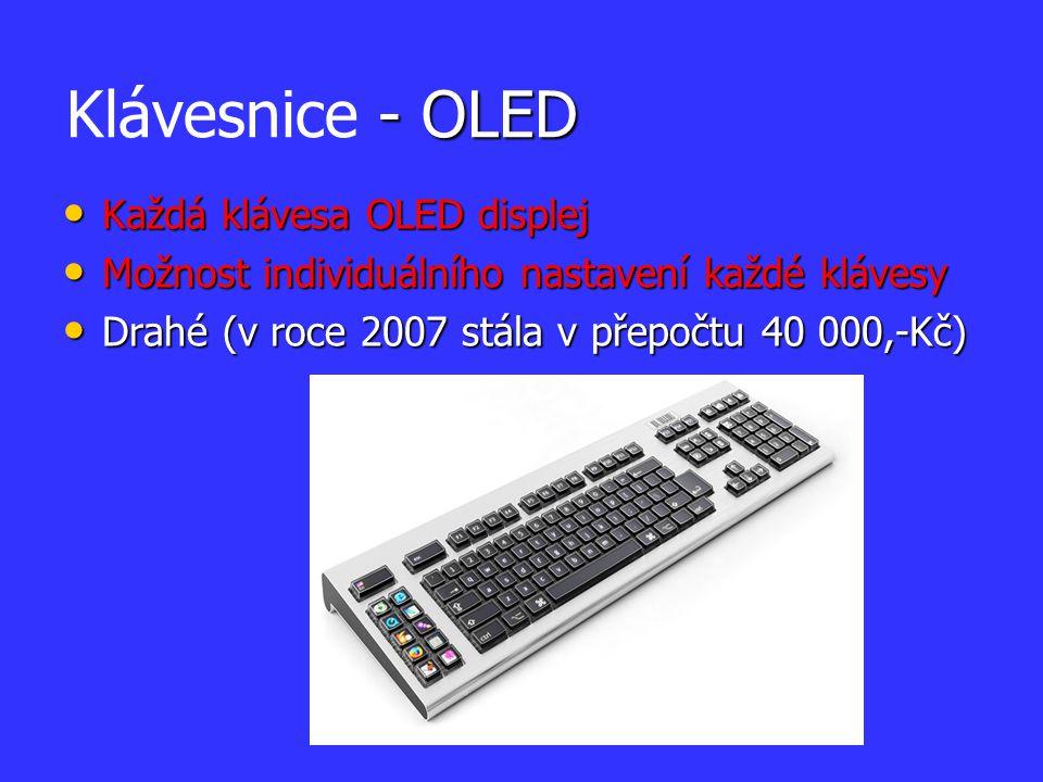 Klávesnice - OLED Každá klávesa OLED displej