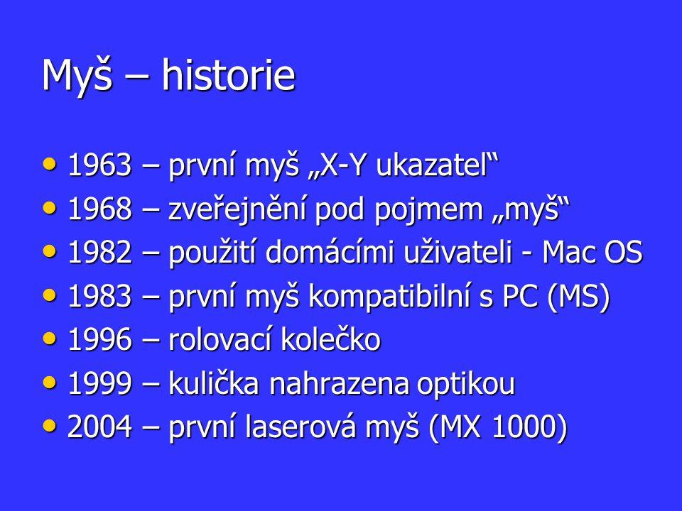 """Myš – historie 1963 – první myš """"X-Y ukazatel"""