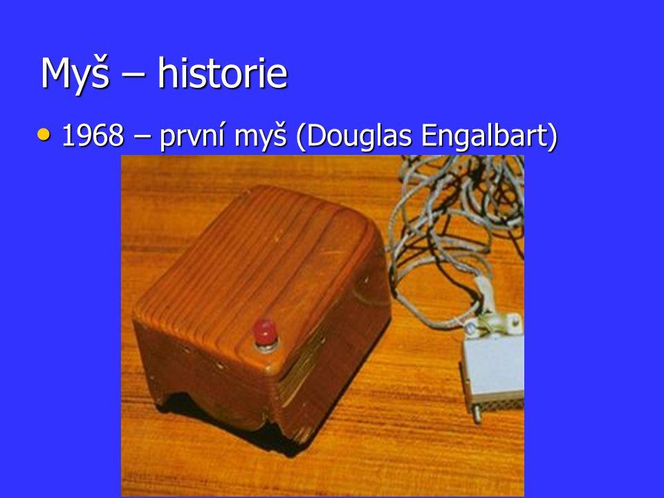 Myš – historie 1968 – první myš (Douglas Engalbart)