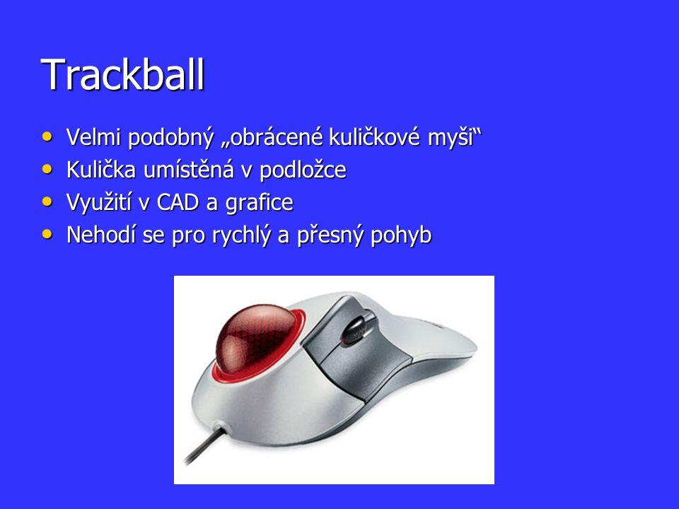 """Trackball Velmi podobný """"obrácené kuličkové myši"""
