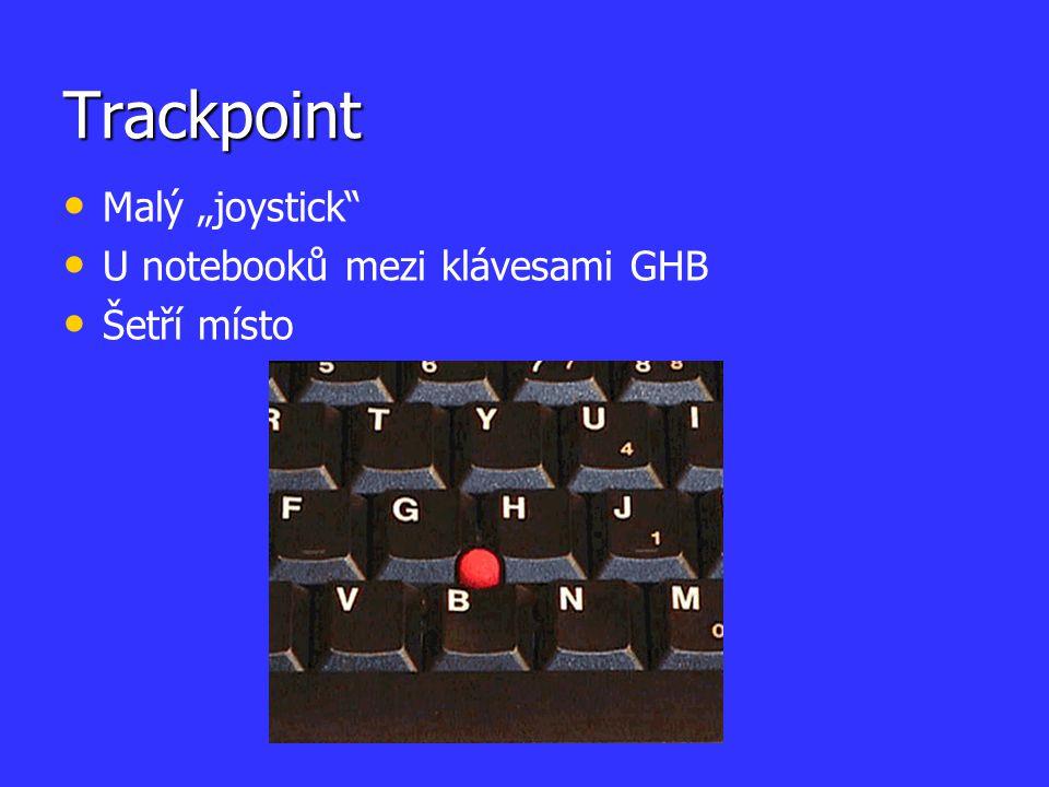 """Trackpoint Malý """"joystick U notebooků mezi klávesami GHB Šetří místo"""