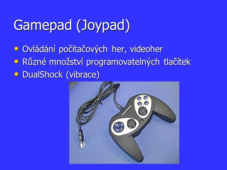 Gamepad (Joypad) Ovládání počítačových her, videoher