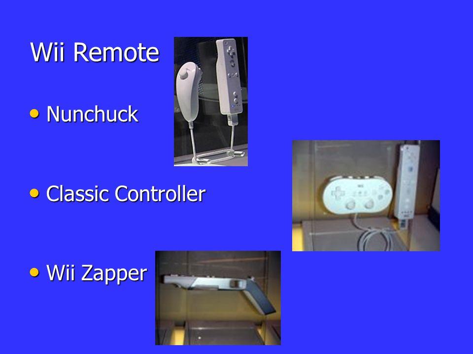 Wii Remote Nunchuck Classic Controller Wii Zapper