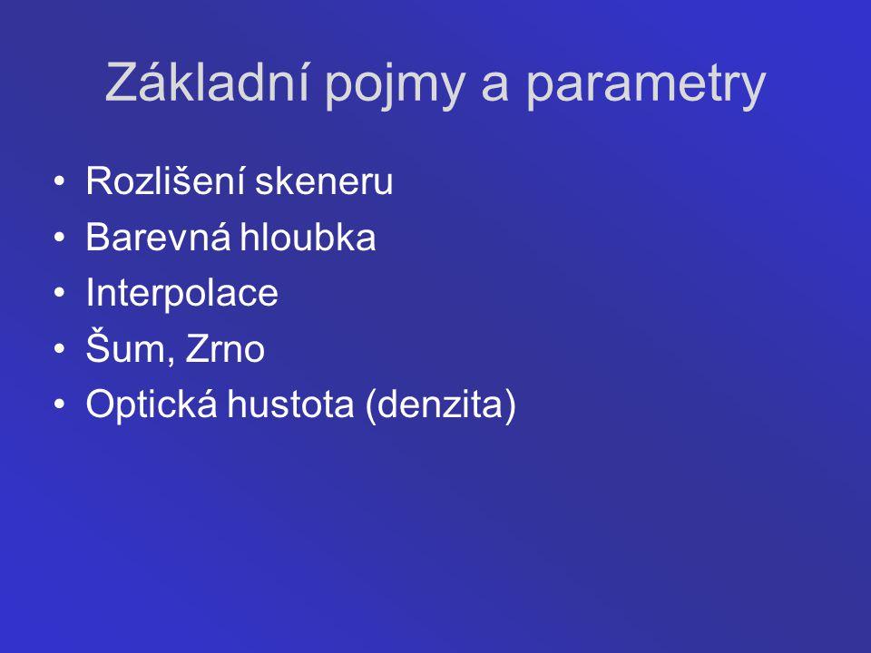 Základní pojmy a parametry