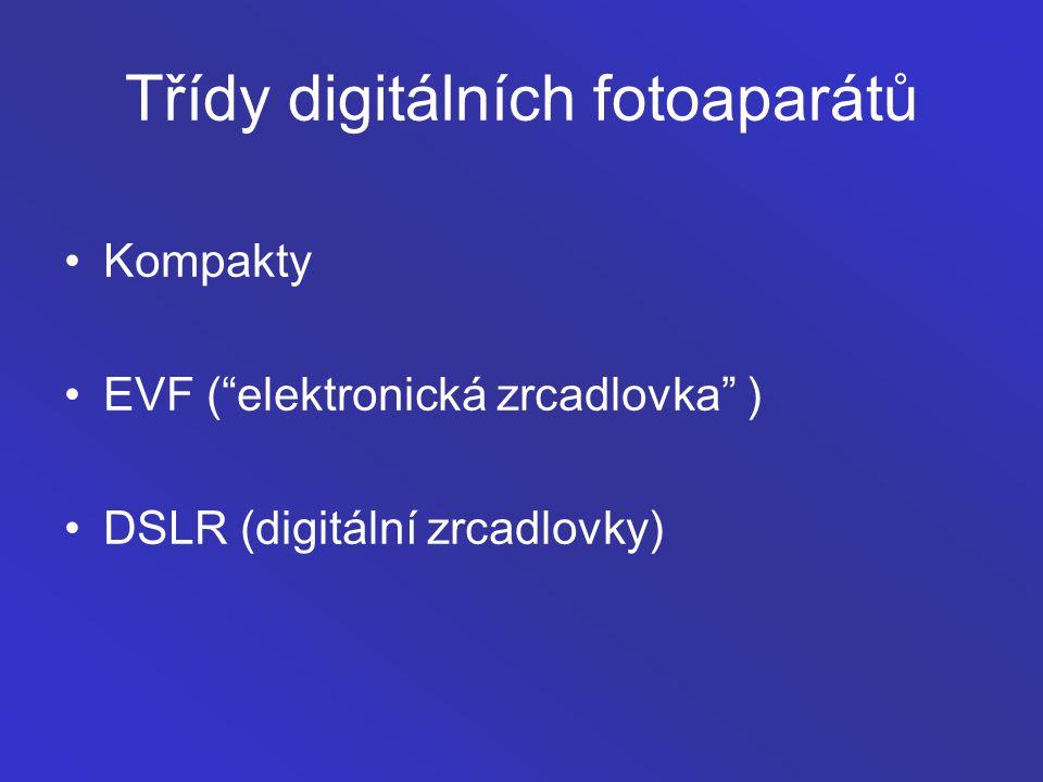 Třídy digitálních fotoaparátů