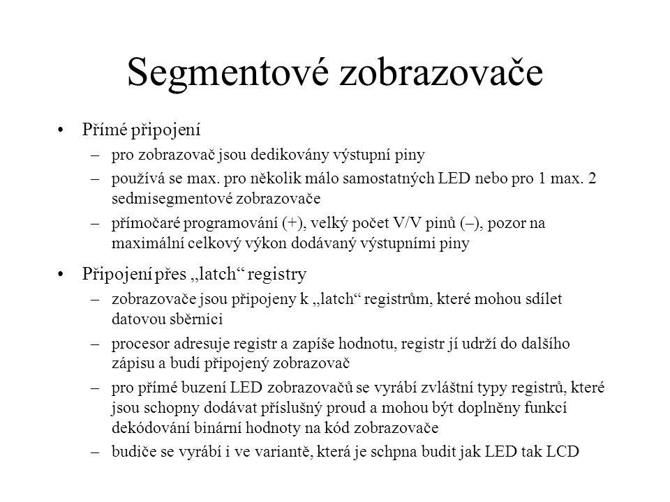 Segmentové zobrazovače