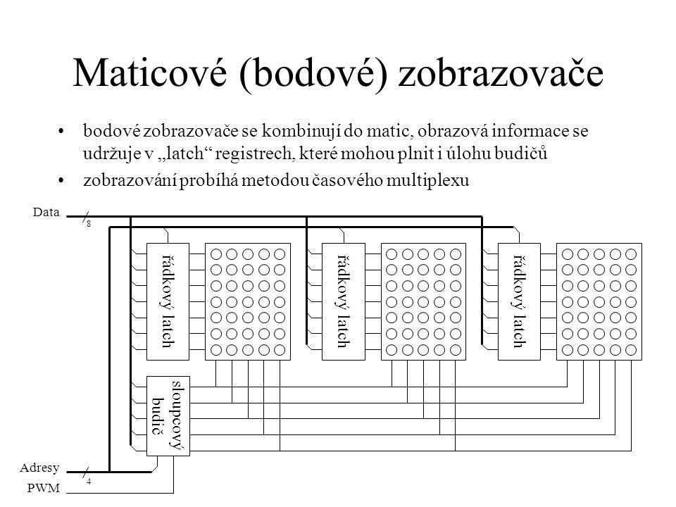 Maticové (bodové) zobrazovače