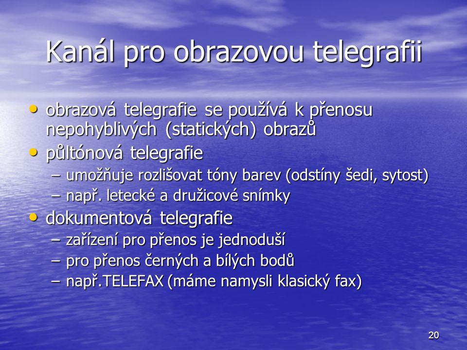 Kanál pro obrazovou telegrafii
