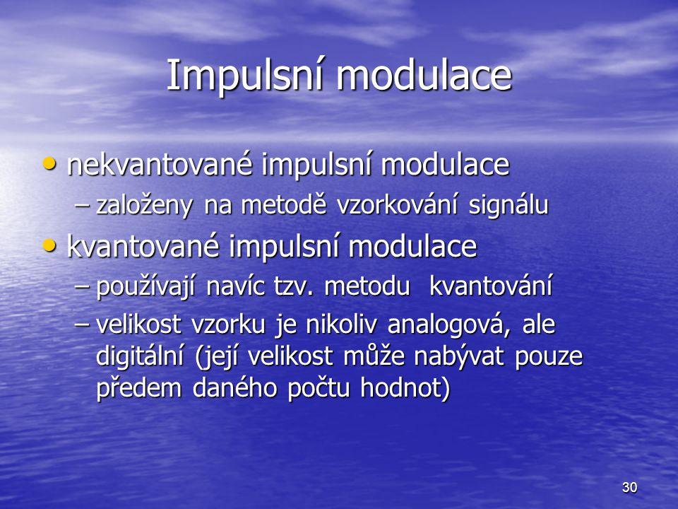 Impulsní modulace nekvantované impulsní modulace