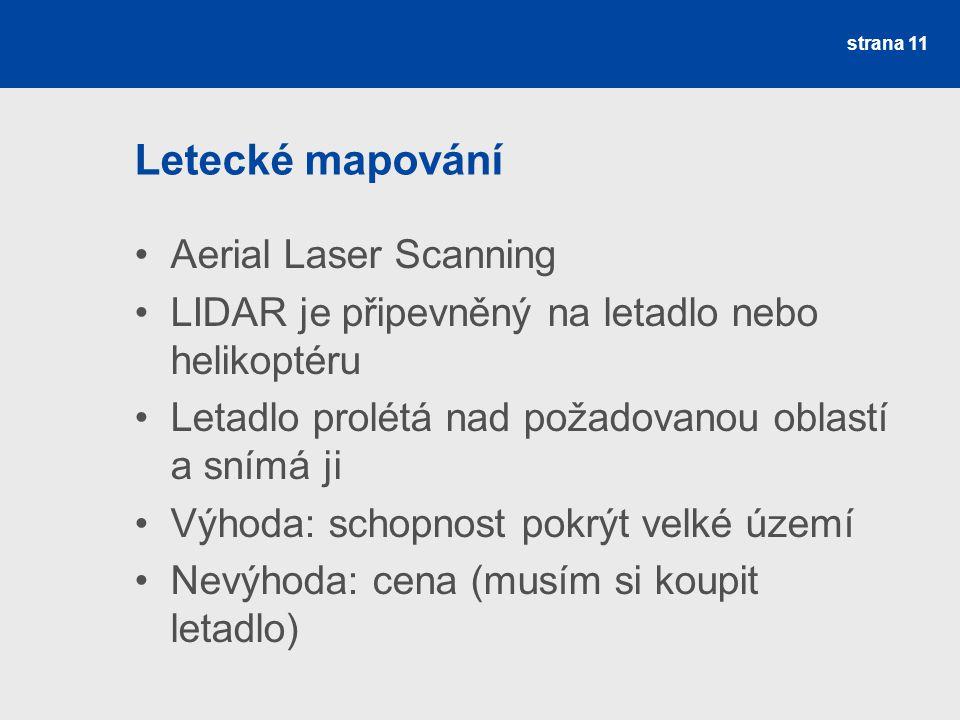 Letecké mapování Aerial Laser Scanning