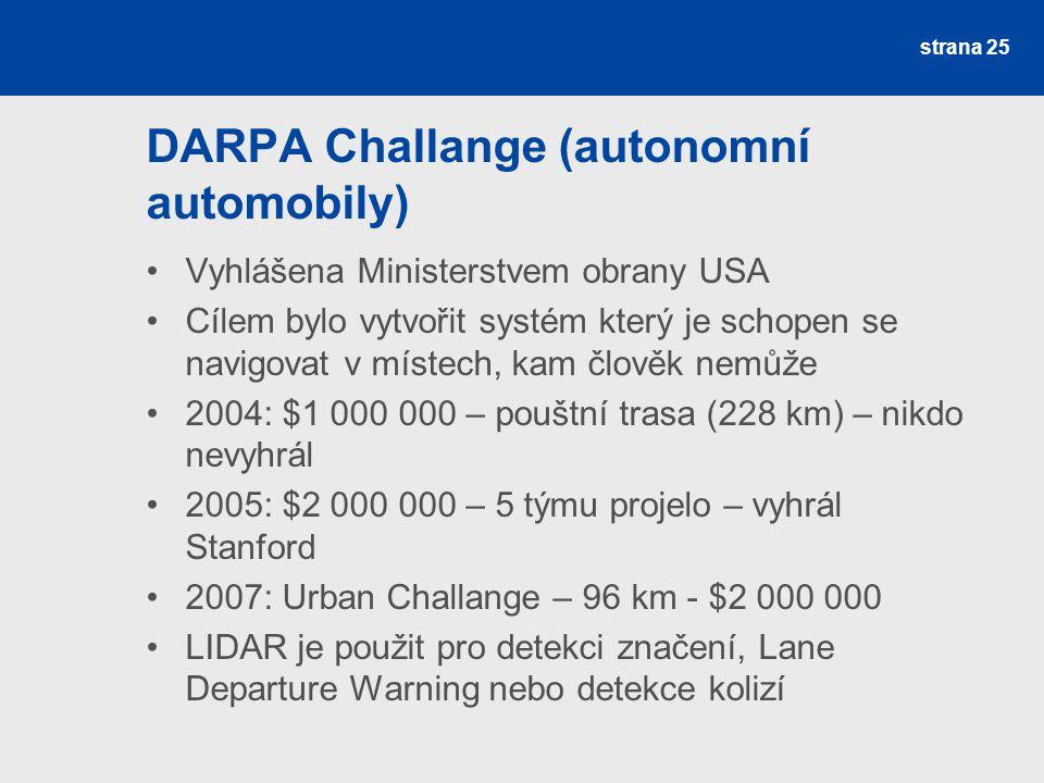 DARPA Challange (autonomní automobily)