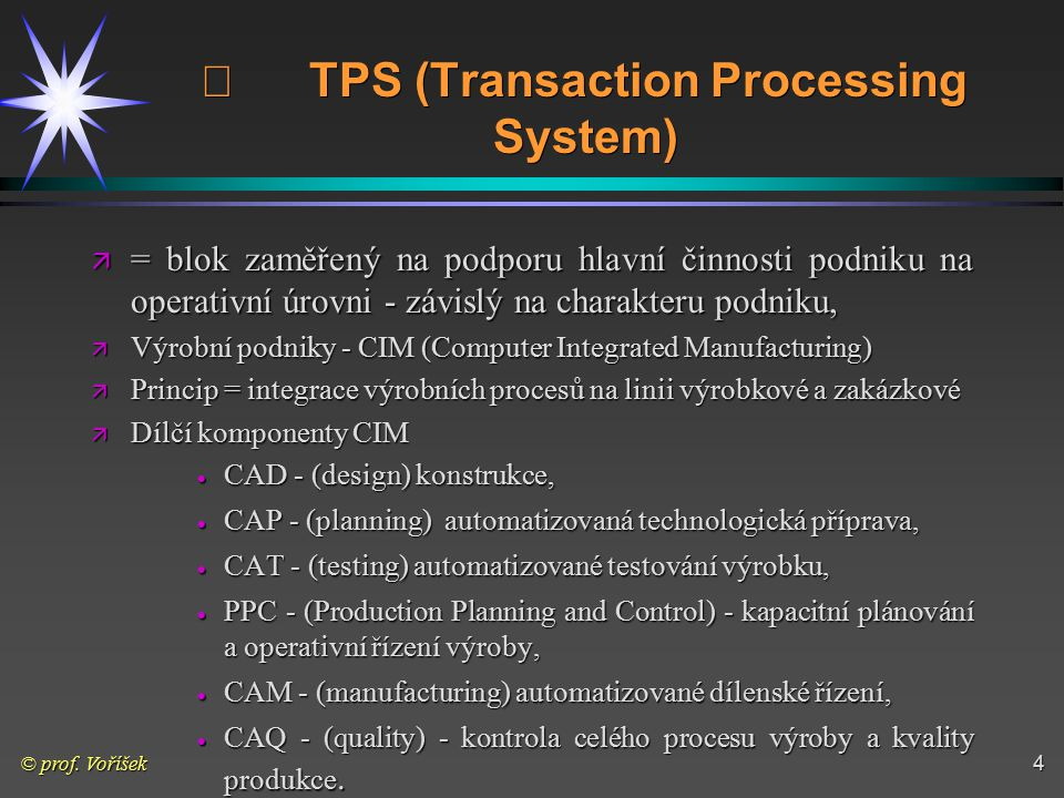 ¨ TPS (Transaction Processing System)