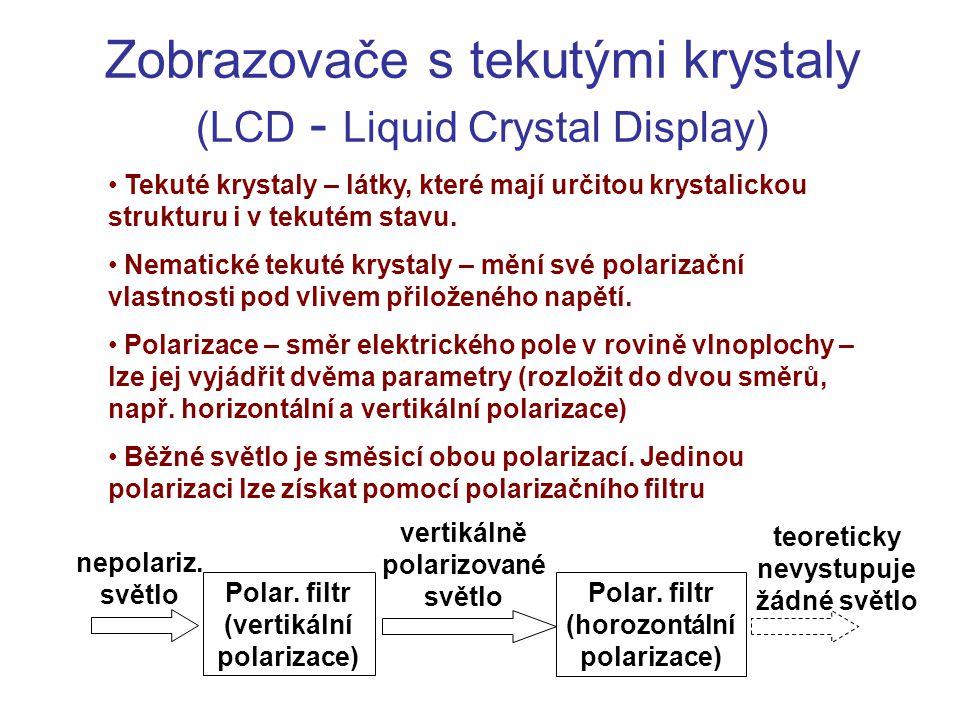 Zobrazovače s tekutými krystaly (LCD - Liquid Crystal Display)