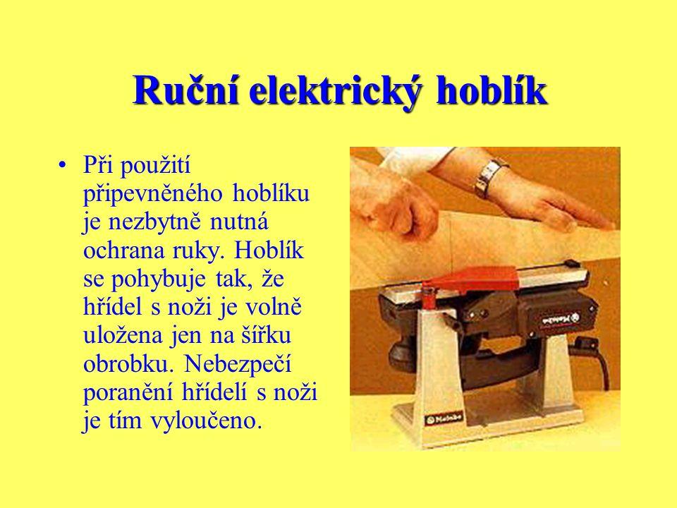 Ruční elektrický hoblík