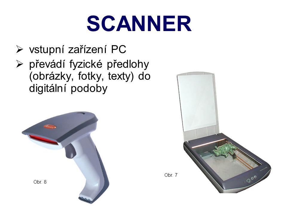 SCANNER vstupní zařízení PC