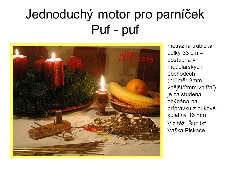 Jednoduchý motor pro parníček Puf - puf