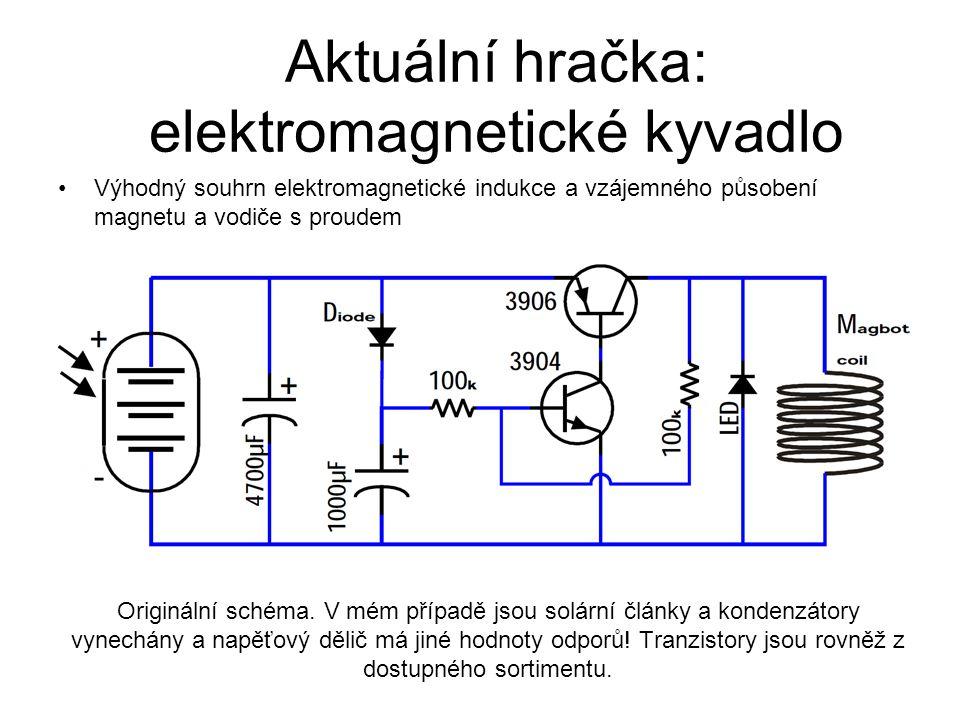 Aktuální hračka: elektromagnetické kyvadlo