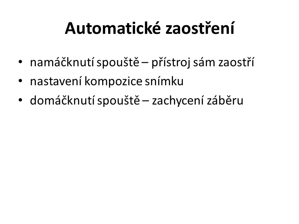 Automatické zaostření