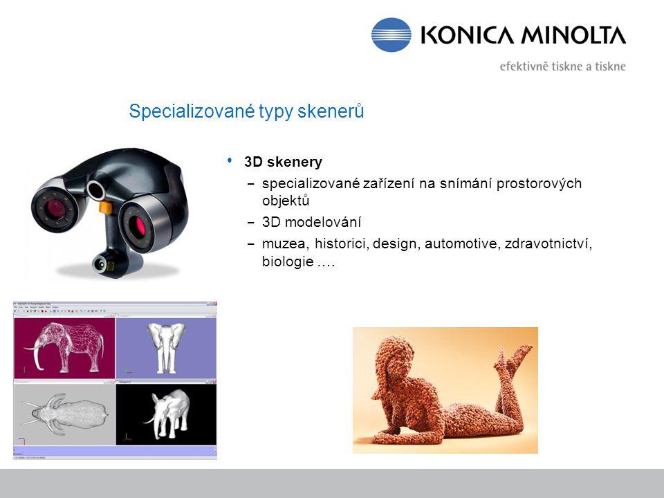 Specializované typy skenerů