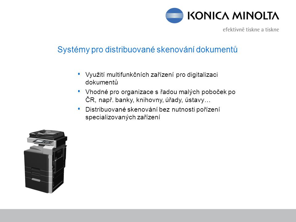 Systémy pro distribuované skenování dokumentů