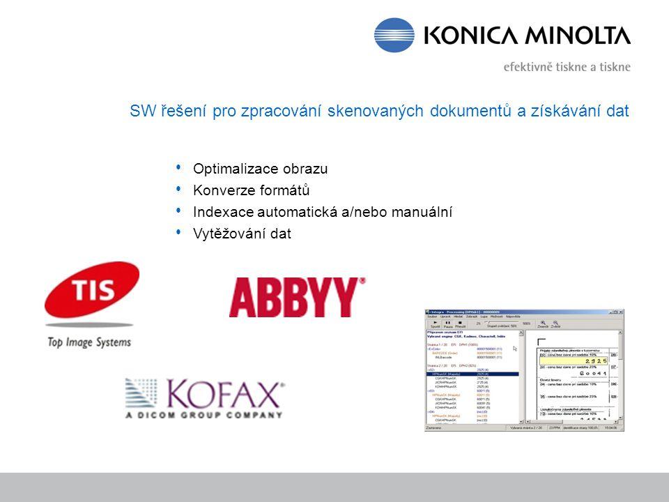 SW řešení pro zpracování skenovaných dokumentů a získávání dat