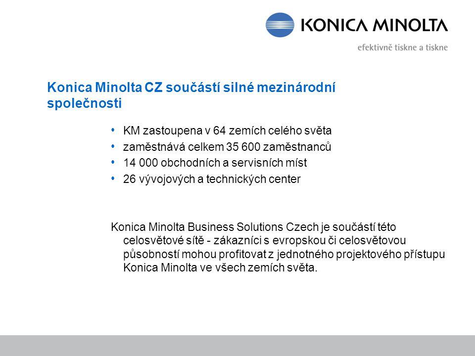 Konica Minolta CZ součástí silné mezinárodní společnosti