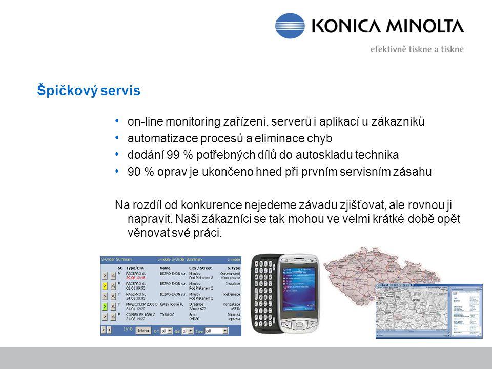 Špičkový servis on-line monitoring zařízení, serverů i aplikací u zákazníků. automatizace procesů a eliminace chyb.