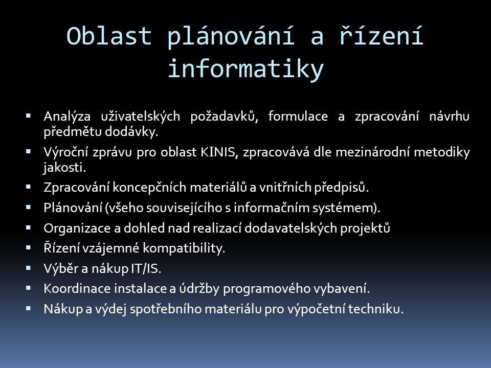 Oblast plánování a řízení informatiky
