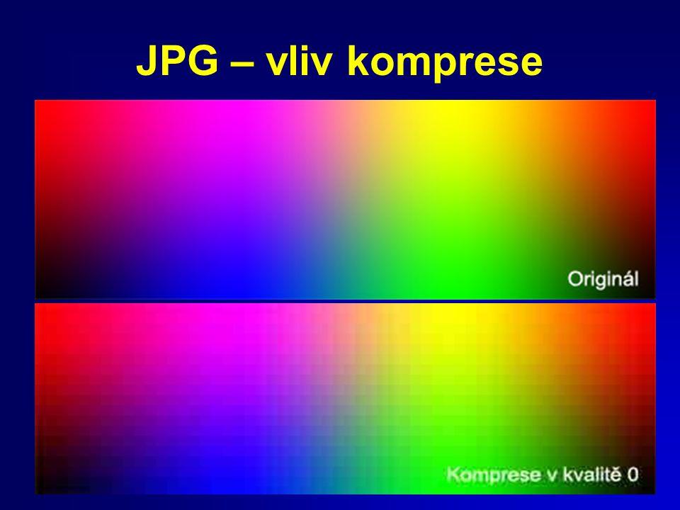JPG – vliv komprese