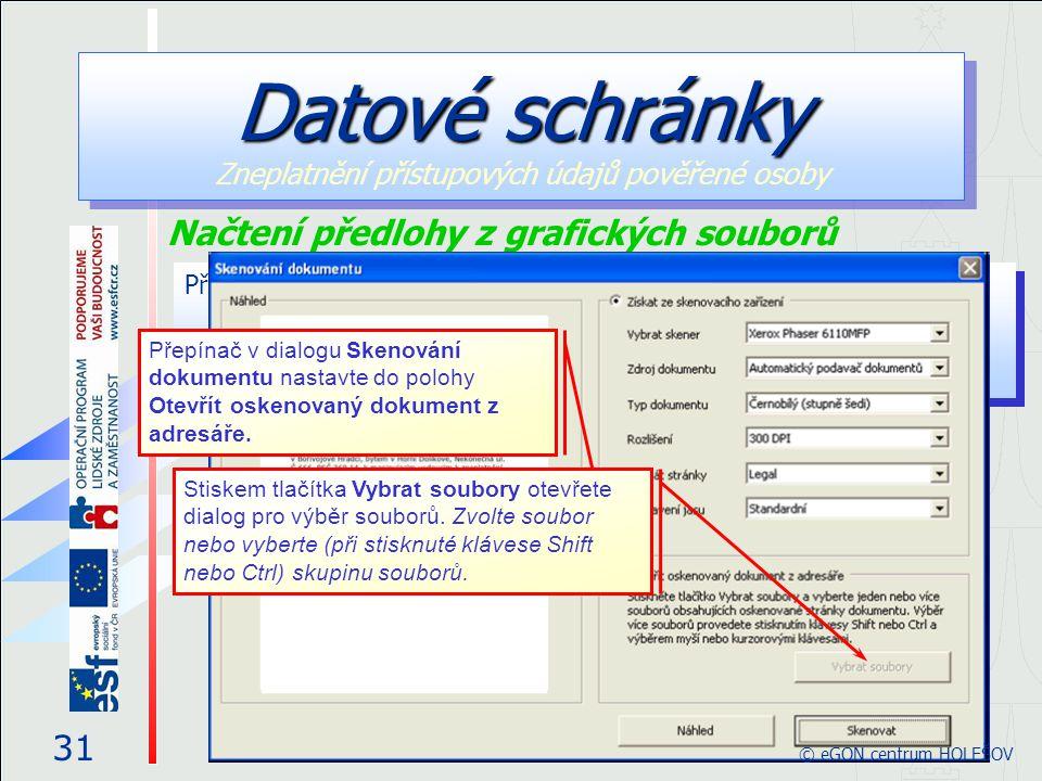 Datové schránky Zneplatnění přístupových údajů pověřené osoby