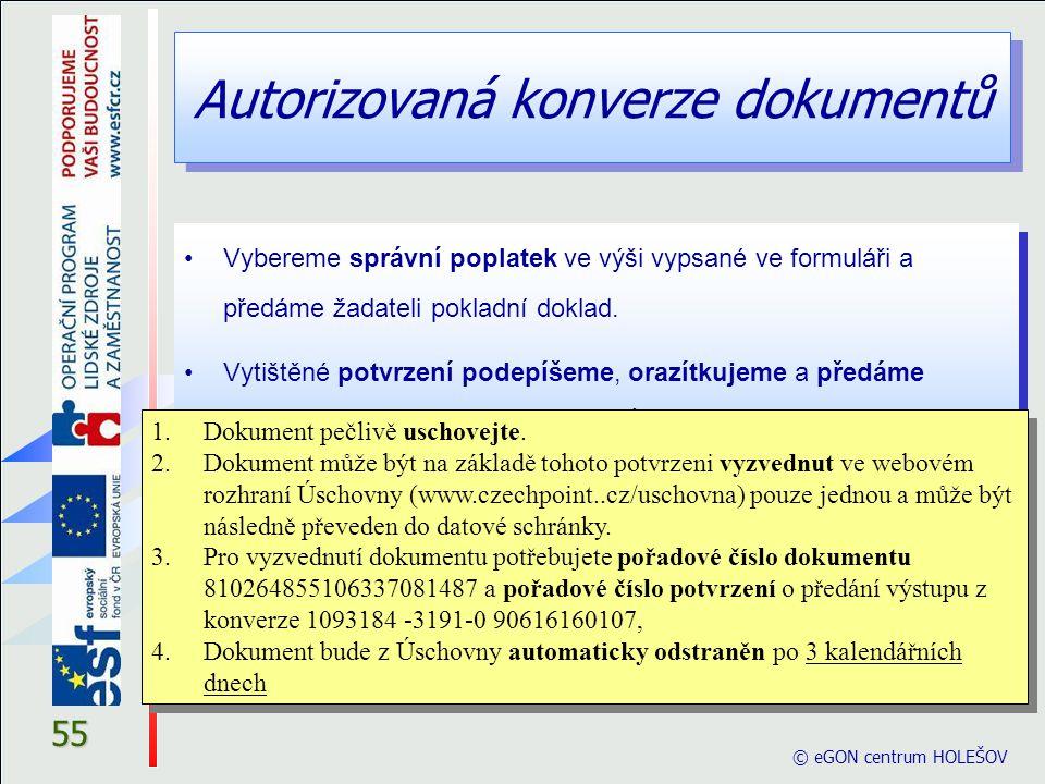 Autorizovaná konverze dokumentů
