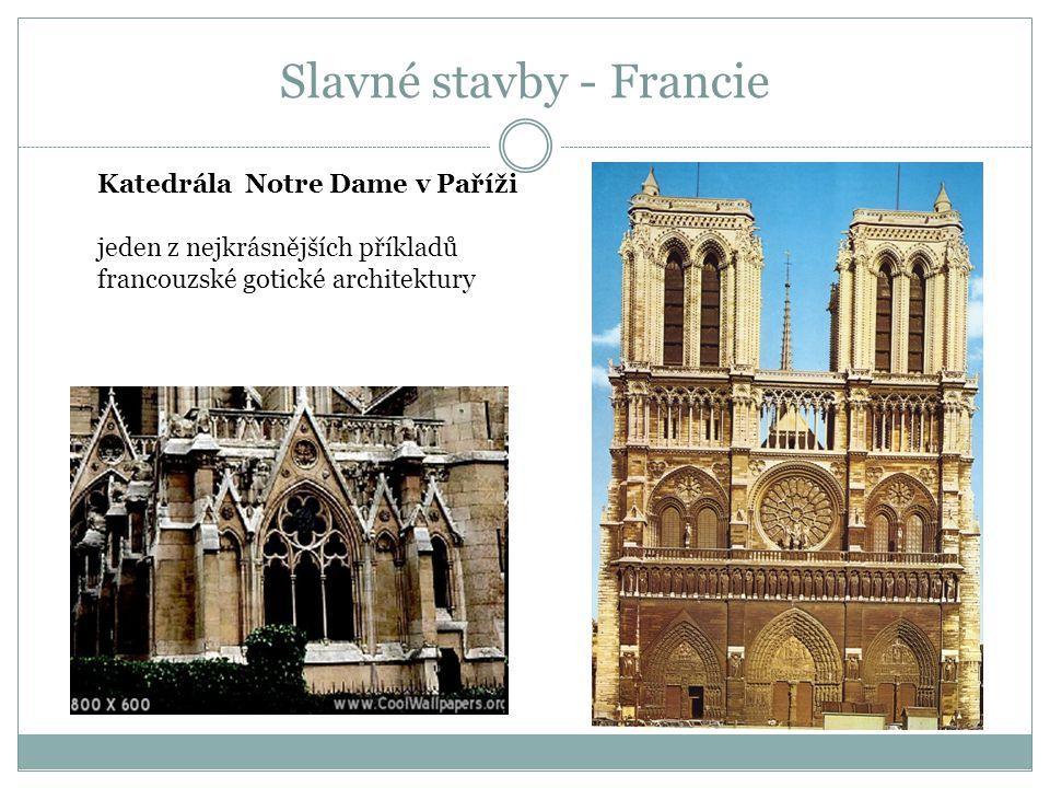 Slavné stavby - Francie