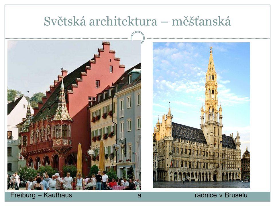 Světská architektura – měšťanská