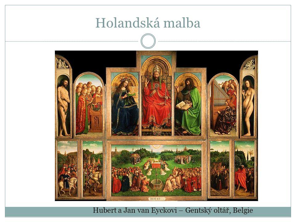 Holandská malba Hubert a Jan van Eyckovi – Gentský oltář, Belgie